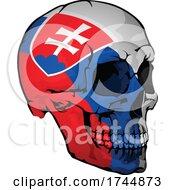 Slovakian Flag Skull