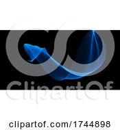 Abstract Banner With Flowing Waves Design