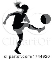 Female Soccer Football Player Woman Silhouette