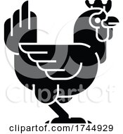 Poster, Art Print Of Chicken Sign Label Icon Concept