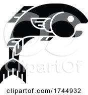 Fish Sign Label Icon Concept
