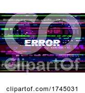 Computer Error Glitch Background