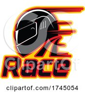 Poster, Art Print Of Motorsports Racing Helmet Design