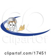 Clipart Picture Of A Salt Shaker Mascot Cartoon Character Waving And Standing Behind A Blue Dash On An Employee Nametag Or Business Logo by Toons4Biz
