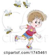 Wasps Chasing A Boy