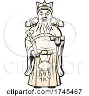 Chinese God Of Wealth by Vector Tradition SM