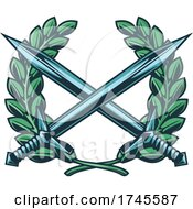 Crossed Swords And Wreath by Vector Tradition SM