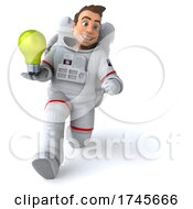 Poster, Art Print Of 3d Cosmonaut Astronaut On A White Background