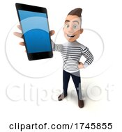 3d Breton Man, on a White Background by Julos #COLLC1745855-0108