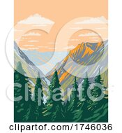 06/10/2021 - The Stephen Mather Wilderness Located Within North Cascades National Park And Lake Chelan National Recreation Area In Washington State WPA Poster Art