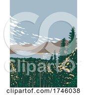 06/10/2021 - Skilak Lake On The Kenai Peninsula Fed By Meltwater From Skilak Glacier Located In Kenai Fjords National Park In Alaska WPA Poster Art