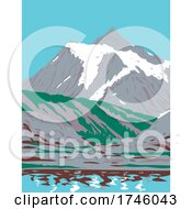 06/10/2021 - Mount Shuksan A Glaciated Massif In Cascade Range Located In Northern Cascades National Park In Washington WPA Poster Art