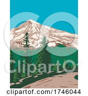 06/10/2021 - South Face Of Mount Rainier Tahoma Or Tacoma With Kautz Ice Cliff Located In Mount Rainier National Park Washington State WPA Poster Art