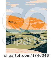 The Sleeping Indian On Sheep Mountain In The Gros Ventre Wilderness Of Bridger Teton National Forest Near Jackson Wyoming WPA Poster Art