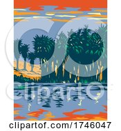 06/10/2021 - Thousand Palms Oasis Preserve Also Often Referred To As The Coachella Valley Preserve Located In California WPA Poster Art