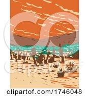 06/10/2021 - Turkey Flats Sand Dunes Located In Joshua Tree National Park In California WPA Poster Art