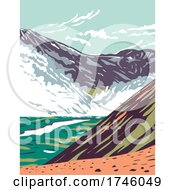 06/10/2021 - Valley Of Ten Thousand Smokes Located In Katmai National Park And Preserve Filled With Ash Flow From The Eruption Of Novarupta In Alaska WPA Poster Art