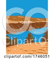 06/10/2021 - Kings River In San Joaquin Valley Originating Along Sierra Crest In Kings Canyon National Park In Central California WPA Poster Art