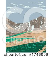 06/10/2021 - Grays Peak And Torreys Peak In The Continental Divide Within In The Rocky Mountain National Park Wilderness In Colorado WPA Poster Art