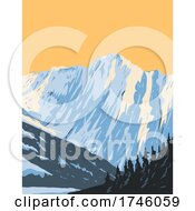 Summit Of Eldorado Peak At The Head Of Marble Creek And Inspiration Glacier Located In Northern Cascades National Park In Washington Poster Art