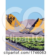 06/10/2021 - The Chisos Mountains Or Chisos Located In Big Bend National Park In The The Trans Pecos Region Of Texas WPA Poster Art