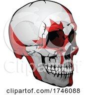 Canadian Flag Skull