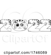 New Year 2022 Numbers WIth A Cute Tiger Face