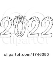 New Year 2022 Numbers WIth A Roaring Tiger Zero