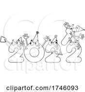 Poster, Art Print Of New Year 2022 Numbers Partying And Removing The 1