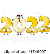 Poster, Art Print Of New Year 2022 Chicken Numbers