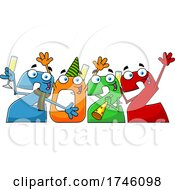 Poster, Art Print Of New Year 2022 Numbers Partying