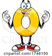 Cartoon Number 0 Character Gesturing Zero