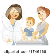 Happy Pediatrician And Patient by Amanda Kate