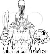 Poster, Art Print Of Spartan Trojan Gladiator Soccer Warrior Woman