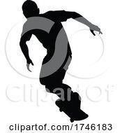 Poster, Art Print Of Silhouette Skater Skateboarder