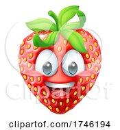 Strawberry Cartoon Emoticon Emoji Mascot Icon