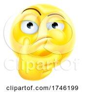Poster, Art Print Of Thinking Emoticon Emoji Cartoon Icon Character