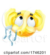 Poster, Art Print Of Emoticon Emoji Ignoring Covering Ears Whistling