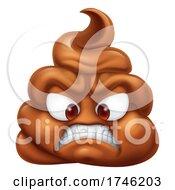 Poster, Art Print Of Angry Mad Dislike Hating Poop Poo Emoticon Emoji