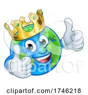 Poster, Art Print Of King Gold Crown Earth Globe World Cartoon Mascot