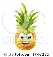 Pineapple Fruit Cartoon Emoticon Emoji Mascot