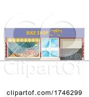 Poster, Art Print Of Bike Shop Business Facade