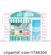 Poster, Art Print Of Ice Cream Business Facade