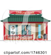 Poster, Art Print Of Sushi Bar Business Facade