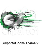 Golf Ball And Grunge