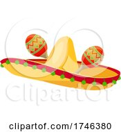 Poster, Art Print Of Sombrero And Maracas