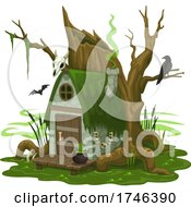 Crow And Creepy House by Vector Tradition SM