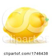 Poster, Art Print Of Lemon Fruit Cartoon Emoji Icon