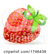 Poster, Art Print Of Strawberry Cartoon Emoji Emoticon Icon