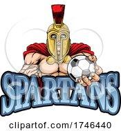 Poster, Art Print Of Spartan Trojan Soccer Football Sports Mascot